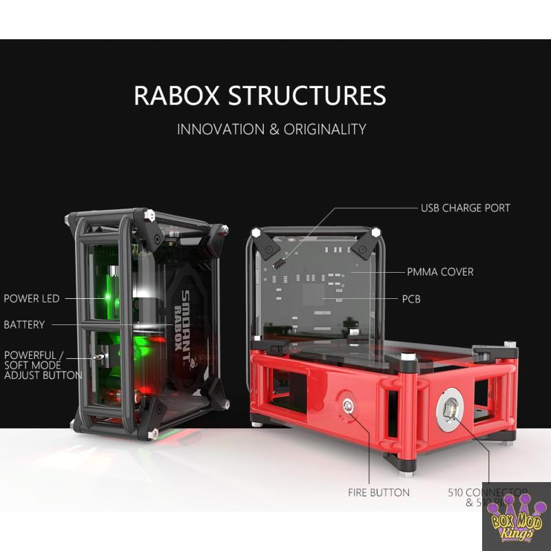 Smoant RABOX Purely Handmade Unregulated Box Mod