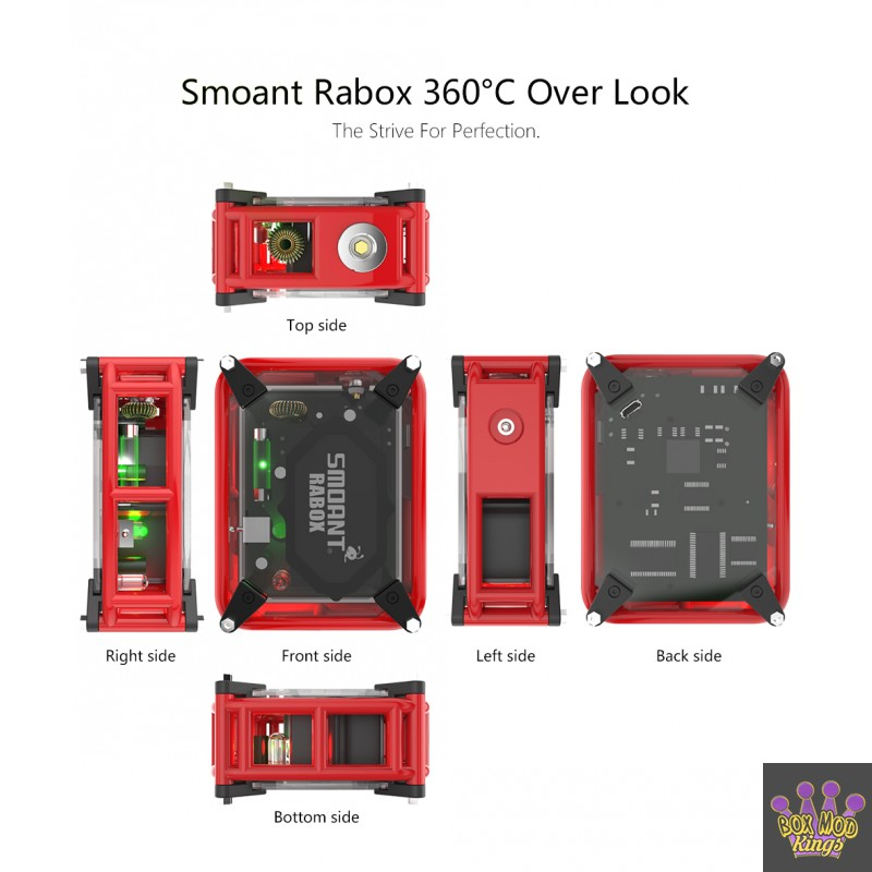 Smoant RABOX Purely Handmade Unregulated Box Mod