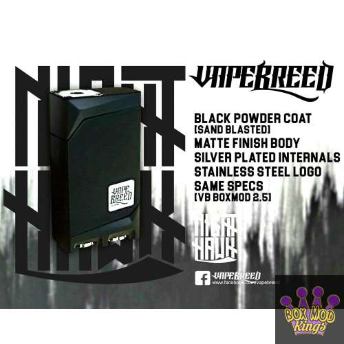 VapeBreed BoxMod v2.5 NIGHTHAWK EDITION BLACK